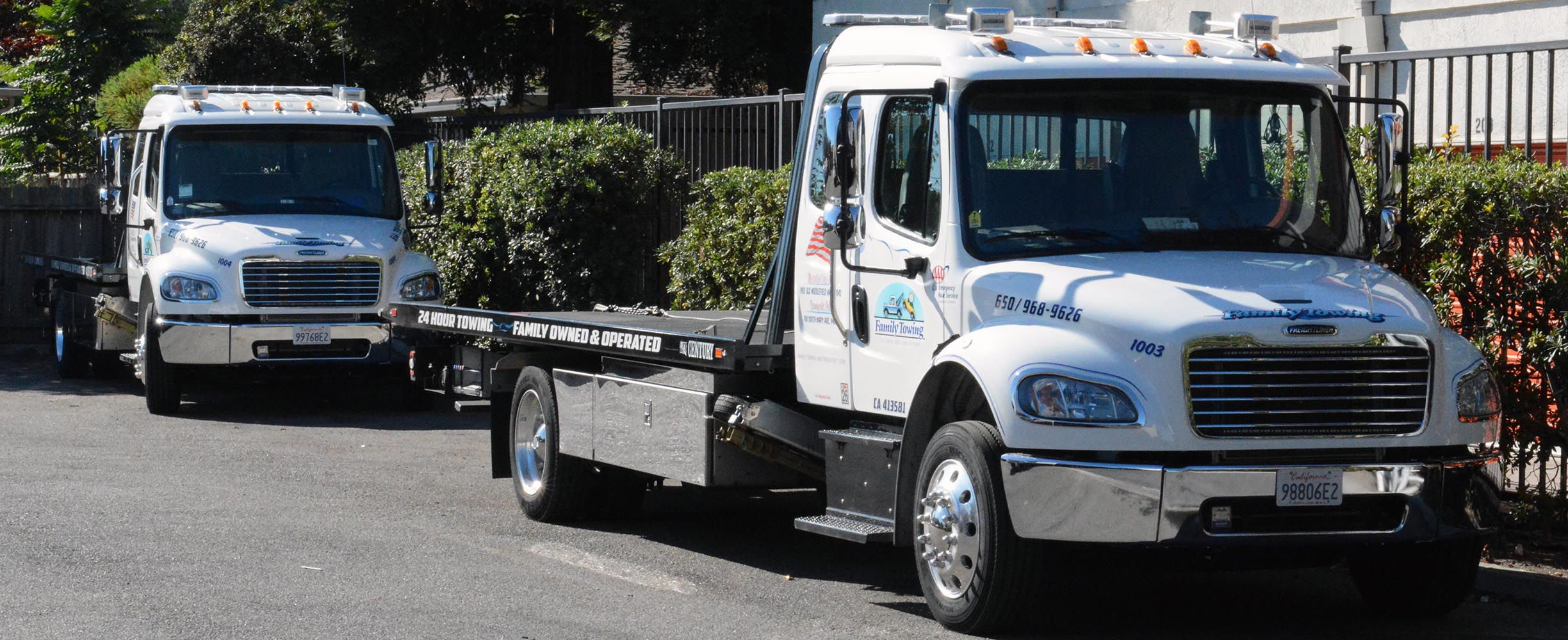 New towing truck fleet in Mountain viewe servicing the San Francisco Peninsula.